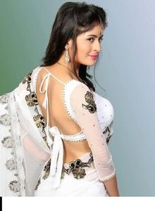 hottest saree blouse back