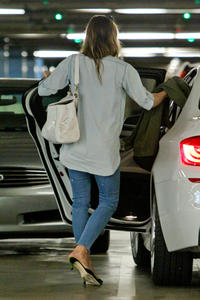 Jessica Biel Out and about in Century City 06-25-2014