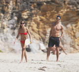 Olivia Palermo | Bikini Candids on the Beach in St. Barts | January 5 | 39 pics